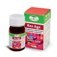 Res Age  100 mg per capsula di Resveratrolo clinicamente testato su soggetti anziani. Antiaging, protezionenei cali di memoria, nel supporto delle funzioni neurocognitive e cardiache, nella prevenzione dei danni endoteliali causati da iperglicemia, nella protezione della pelle da danni da raggi UV.